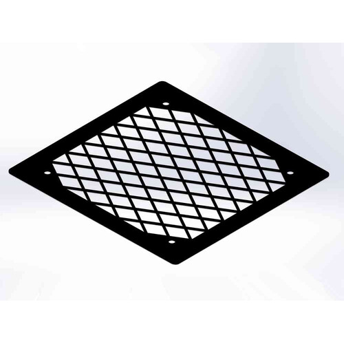 Fan Grill 1x140 Diamond black