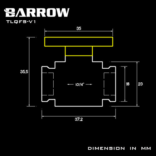 Barrow G1/4 Mini Ball Valve black